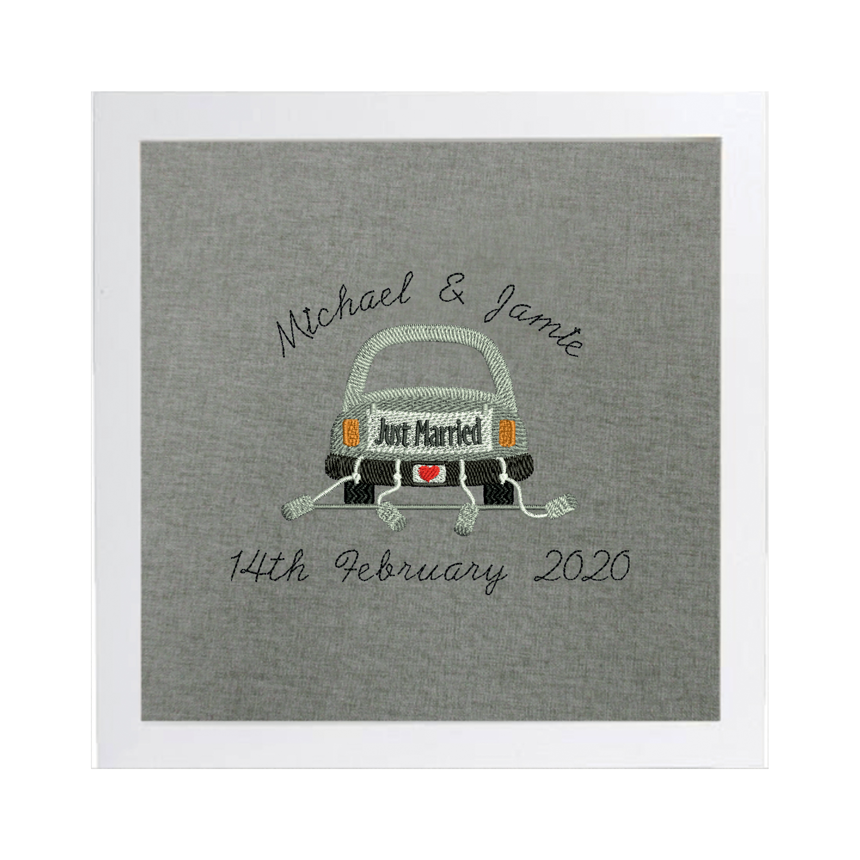 Personalised Embroidered Wedding Car Picture Gift The Cap Factory